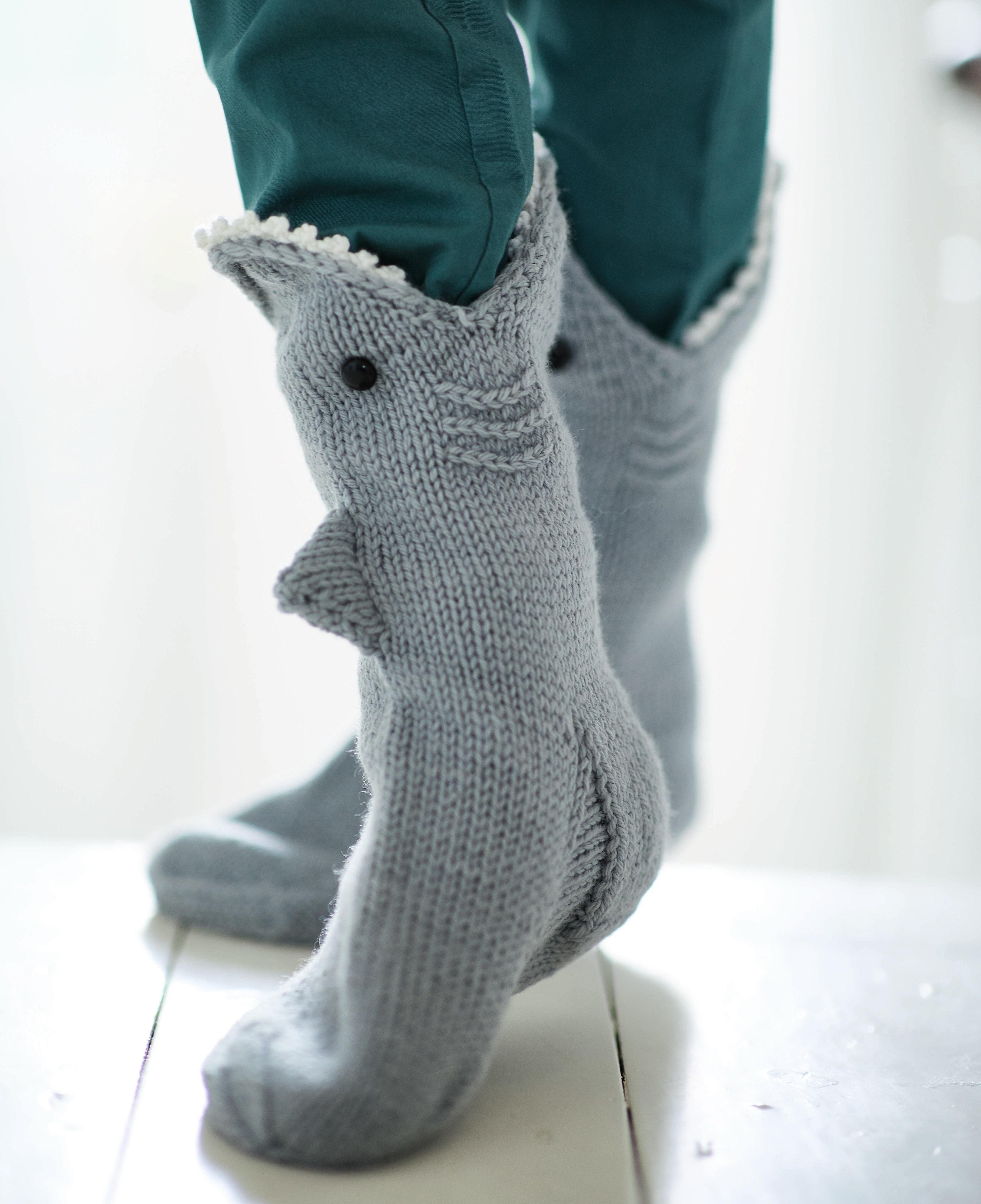 Crochet Shark Slippers Pattern Shark Socks Extract From ...